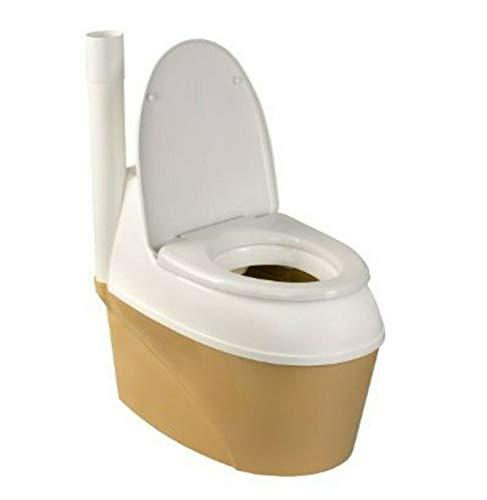 Varile Campingtoilette, Trockentoilette, Torf Toilette, Bio Toilette, Gartentoilette aus Kunstoff