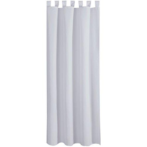 Bestlivings Gardine Vorhang Blickdicht modern mit Schlaufen Schlaufenschal Mikrosatin matt, in vielen Größen, Auswahl HELL-GRAU in der Größe: B-140cm x L-245cm