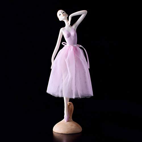 Sungmor Milieuvriendelijke hars roze dansen ballet meisje schoonheid standbeeld ornamenten - Collectible Artwork Ballerina beeldje huisdecoratie - geschenken voor geliefde meisjes dames