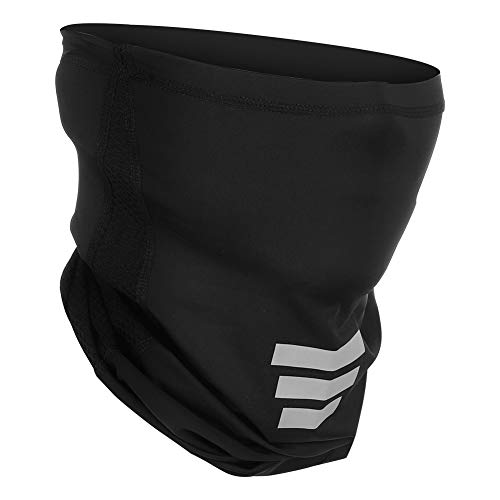 SKL Cooling Face Gaiter Mask, UV Protection Face Cover Bandana, Wind Dust Proof Breathable Gaiter Mask for Men Women Fishing Hiking Running Cycling Black
