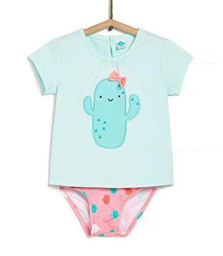 TEX - Conjunto Camiseta y Culetín de Baño para Bebé, Azul Ibiza, 18 Meses