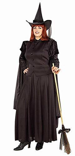 Forum Novelties Women's Wild N' Witchy Classic Witch Costume, Black, Plus