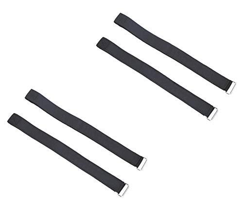 Pilika Correas de Repuesto para Hoverkart Hover Board Kart Magic Cintas de Nylon Pegatina De Negro L Talla Grande Paquete de 4 Piezas (Dos Pares)