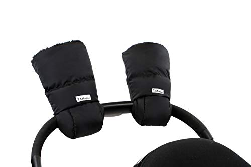 7AM Enfant Stroller Hand Warmers - Warmmuffs with Anti- Freeze, Cold Weather, Water Repellent Warm Hand Gloves for Pushchair, Pram, and Stroller