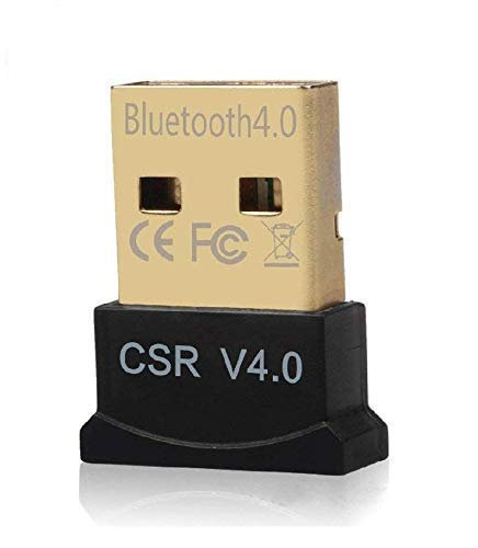 SSB WHOLESALE & RETAIL SSB USB Bluetooth Adapter, CSR 4.0 USB Bluetooth Dongle Receiver with All in One Driver CD, Gold Plated, for Laptop PC Computer Supports Windows 10 8 7 Vista XP