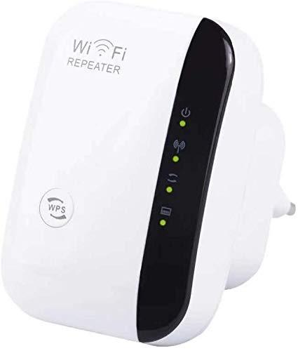 Amplificador WiFi Repetidor Extensor de Alcance inalámbrico 300Mbps Signal Booster Red 2.4G con Antenas integradas de Puerto LAN
