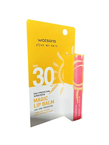 2 packs of Watsons Daily Protection Sunscreen Magic Lip Balm for effective covage. heat protection SPF30 PA+++ (1.7g./ pack).
