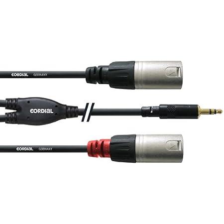 Cordial Y Kabel Stereo 2 Xlr Stecker Mini Jack Jumper Lang 1 5 M Musikinstrumente