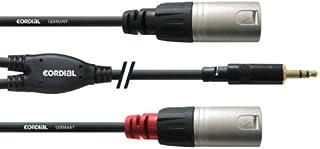 CORDIAL Y-kabel stereo/2 XLR-stekker mini-jack-jumper lang 1,5 m