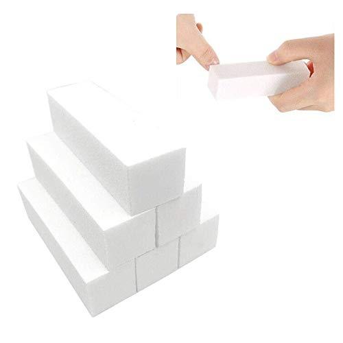 6 Stück Weiß Buffer Schleifblöcke, Polierblock Buffer der neuen Generation mit 4 Feil- und Polierflächen Nagelfeile Block Nagelkunst Maniküre Werkzeug