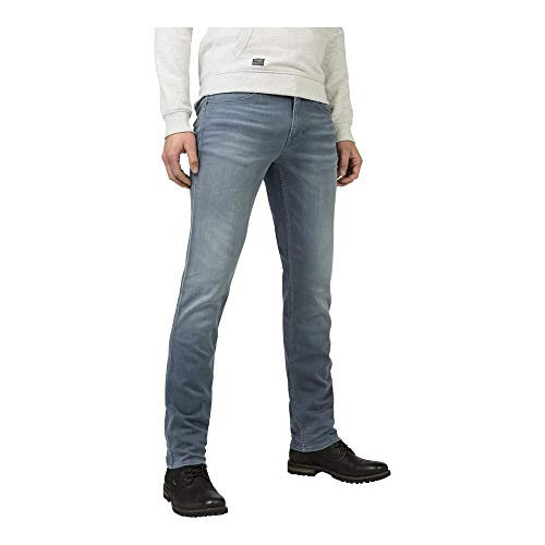 PME Legend Herren Jeans Nightflight Light Slim Fit Straight Leg Stoned Blue (81) 36/34