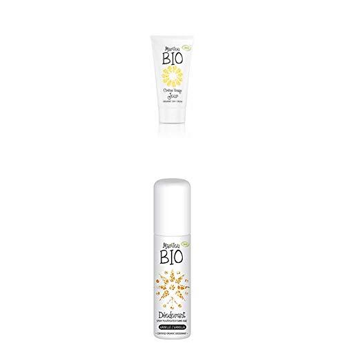 Duo de produit de beauté MARILOU BIO - Gamme Classic - Crème de jour - Déodorant Vanille