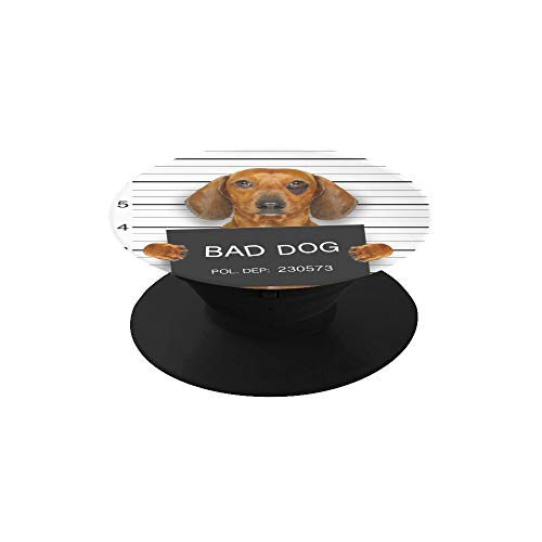 Plsdx Griff-Telefon-Dackel-Wurst-Hund, der eine Polizeidienststelle hält Netter Telefon-Standplatz-Halter-Faltbarer ausdehnender Standplatz kompatibel mit Fast Allen Telefonen/Fällen