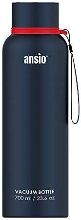 Botella de Agua, Frasco de vacío y Botella de Agua de Acero Inoxidable Botella de Bebidas con Aislamiento Doble Pared Botella de Agua Caliente y fría sin BPA al Aire Libre