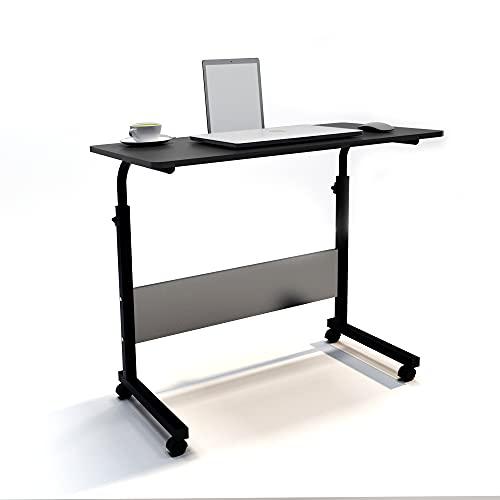 SogesHome Tavolo per computer portatile, 80 x 40 cm, in piedi regolabile in altezza, scrivania per computer per letto, divano, ospedale, infermieristica, lettura, mangiare,SH-CXYM-5-3-80BB