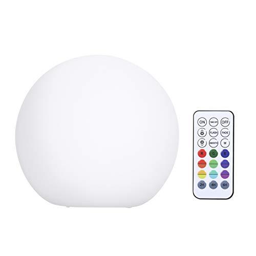 Ajcoflt Luz flutuante regulável para piscina com controle remoto RF 16 cores e 3 modos dinâmicos LEDs de mudança de cor RGBW operados por bateria Luzes IP67 à prova d'água Perfeito para decoração de