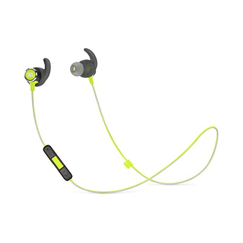JBL Reflect Mini 2.0, in-Ear Wireless Sport Headphone with 3-Button Mic/Remote - Green, One Size
