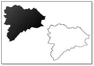 Imán para nevera con diseño de mapa de Edimburgo (Reino Unido, Escocia)