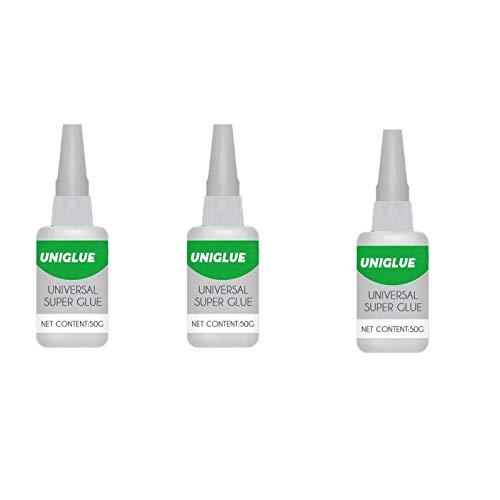Uniglue Universal Super Glue Strong Plastic Liquid for Resin Ceramic Metal Glass Repair 3Bottles