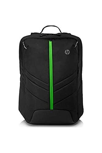 """HP Pavilion Gaming 500 - Mochila (Resistente al agua, para portátiles con pantalla de hasta 17.3"""", puerto USB externo con cable incorporado) negro"""