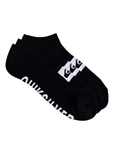 Quiksilver Herren 3 Pack Ankle Lssige Socken, schwarz, Einheitsgröße