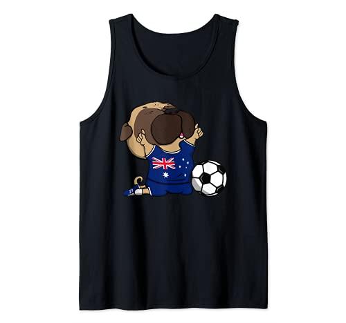Pug Australia Fútbol Fans Jersey Australian Football Amantes Camiseta sin Mangas