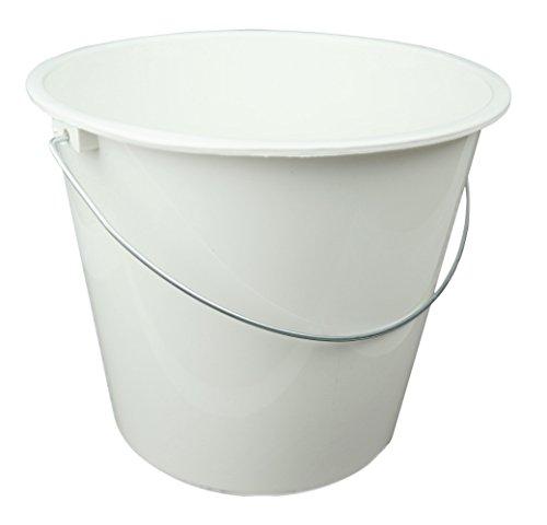 HRB Haushaltseimer, Putzeimer mit Metallbügel, 10 Liter (Weiß, 1 Stück)