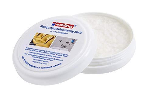 edding 8860 Reinigungspaste- Inhalt: 125g - Zum Entfernen von Permanent Marker-Markierungen - Ohne Lösungsmittel - Made in Germany
