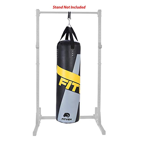 FITVEN Punching Bag for Man Women Kids Indoor/Garden Boxing Bag Heavy Bag for MMA Kickboxing and Muay Thai  50LB