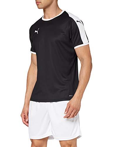 PUMA Liga Jersey T-Shirt, Hombre, Black White, S