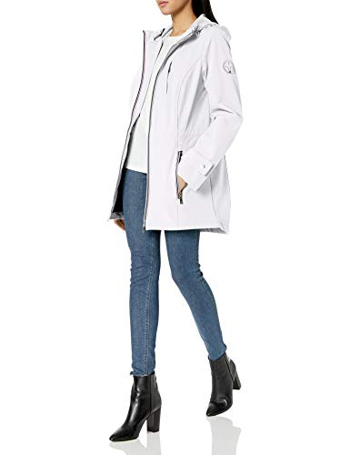 Tommy Hilfiger Damen Iconic Sportliche Kapuze Softshell Regenjacke - Weiß - X-Large