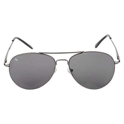 Opticalskart Gafas de sol de aviador negro para hombres (OKSM005C2)