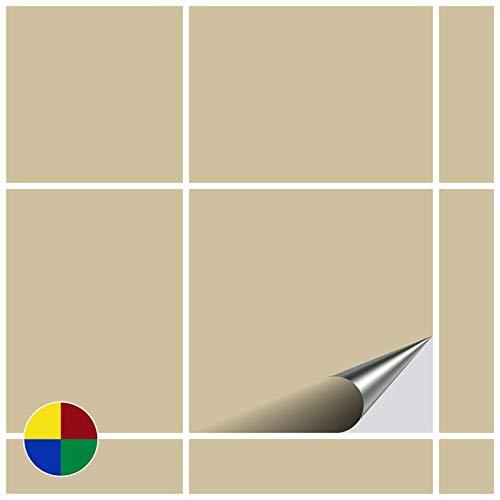 FoLIESEN - Adesivi per Piastrelle, 15 x 15 cm, Beige Opaco, 50 Pezzi