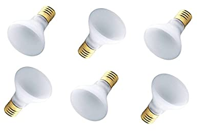 Westinghouse 03626-40R14/IN/FL - 40 Watt R14 Incandescent Flood Light Bulb, Intermediate Base - 6 Pack