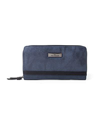 TOM TAILOR Damen Taschen & Geldbörsen Damenbörse Elin dark blue cognac,OneSize