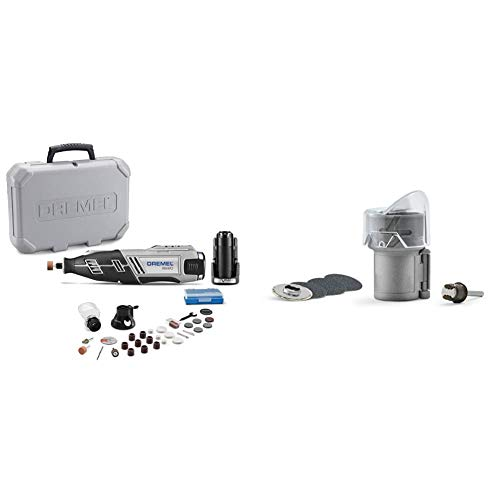Dremel 8220-2/28 12-Volt Max Cordless Rotary Tool with 28 Accessories & AT01-PGK Pet Grooming Nail Guard Attachment