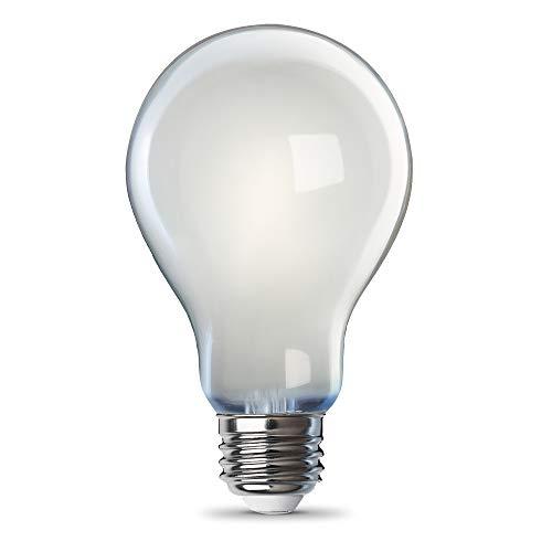 Feit Electric A100/827/FIL/2 100 Watt Equivalent 1600 Lumen Dimmable A21 LED Filament Light Bulb, 4.44