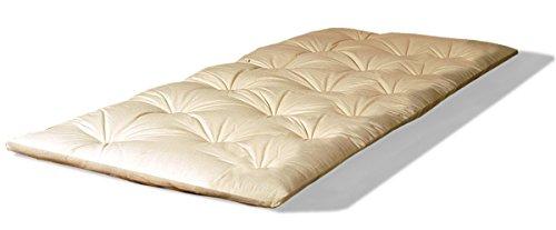Futon Shiatsu oder Shiatzu Matratze 80x200, aus 100% Reiner Baumwolle, ca. 4-5 cm hoch, faltbares Futon, auch für Massage, Yoga oder Camping.