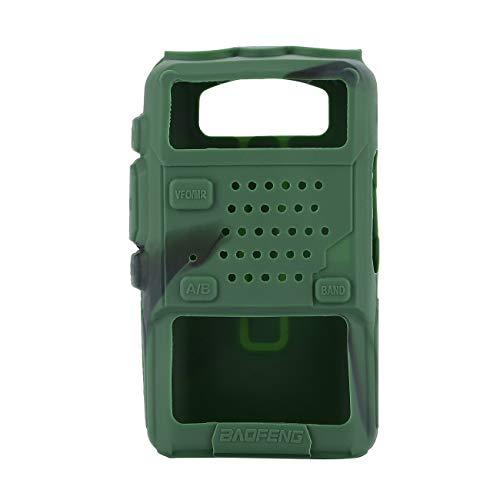 YoBuyBuy Cubierta de goma de silicona Cubierta protectora de Walkie Talkie Carcasa para BAOFENG UV-5R Radio de 2 vías F8 + UV 5R UV-5RE DM-5R