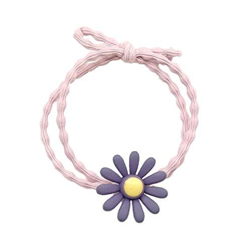 Estilo simple pequeña margarita patrón de pelo cuerda para niña linda accesorios de pelo exquisita cabeza cuerda banda de goma