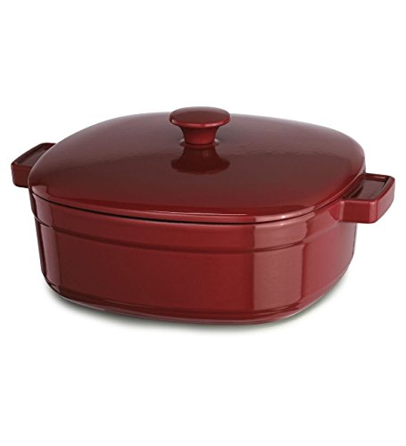 KitchenAid KCLI30CRER Streamline Cast Iron 3-Quart Casserole Cookware - Empire Red