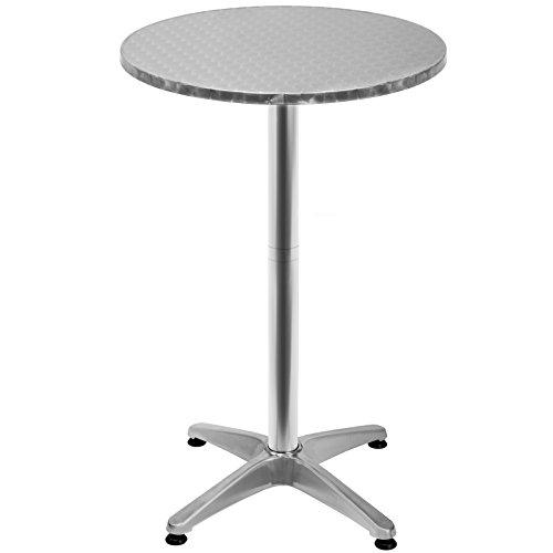 Deuba 2er Set 2in1 Stehtisch klappbar Bistrotisch Ø 60cm Aluminium Edelstahlplatte höhenverstellbar 70cm / 110cm Partytisch Tisch