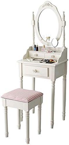 CJX-Dressing Tables mädchen-Frisierkommode, Weiß robuste Frisierkommode-Ausgangsverfassungsspiegel-Schlafzimmer-Toiletten-Frisierkommode-Hauptdekoration (Farbe   B, Größe   5cm)