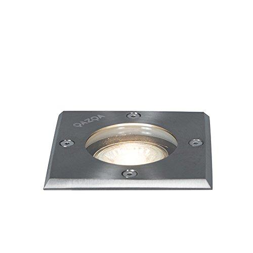 Qazqa Spot extérieur   Spot de Jardin Moderne - Basic Lampe Acier - GU10 - Convient pour LED - 1 x 50 Watt