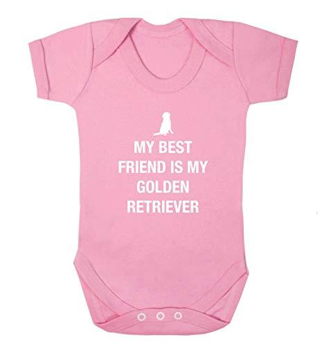 Flox Creative Gilet pour bébé Best Friend Golden Retriever - Rose - XS