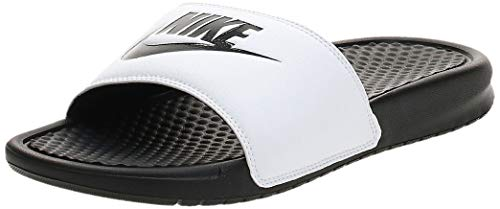 Nike - Benassi - Tongs - Homme - Blanc (White/Black Black) - 44