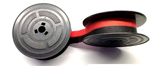 Cinta de máquina de escribir Olivetti Lettera 22,25y 35 y otras, en negro y rojo, de tela, 2 bobinas