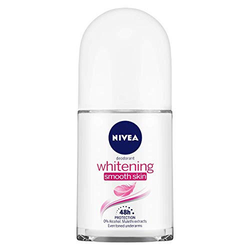 NIVEA Whitening Smooth Skin Deodorant Roll-on, 50ml For Even Toned & Smoother Underams With Vitamin C & Avocado Extracts