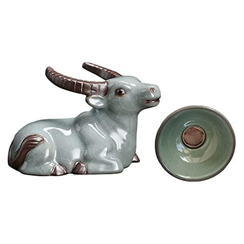 cabilock Filtro de Té Kung Fu Utensilios de Porcelana Estatua de de Cerámica Colador de Té para Té Chino de Gongfu Suministros para Hacer Té
