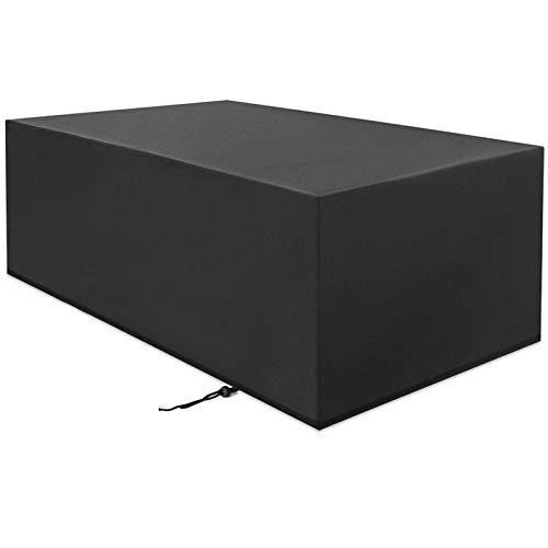 HSGAV Patio Furniture Covers Waterproof Rectangular, Outdoor Patio Furniture Covers Chair, 420D Oxford Tear-resistant Durable Dustproof, Black,250x210x90cm